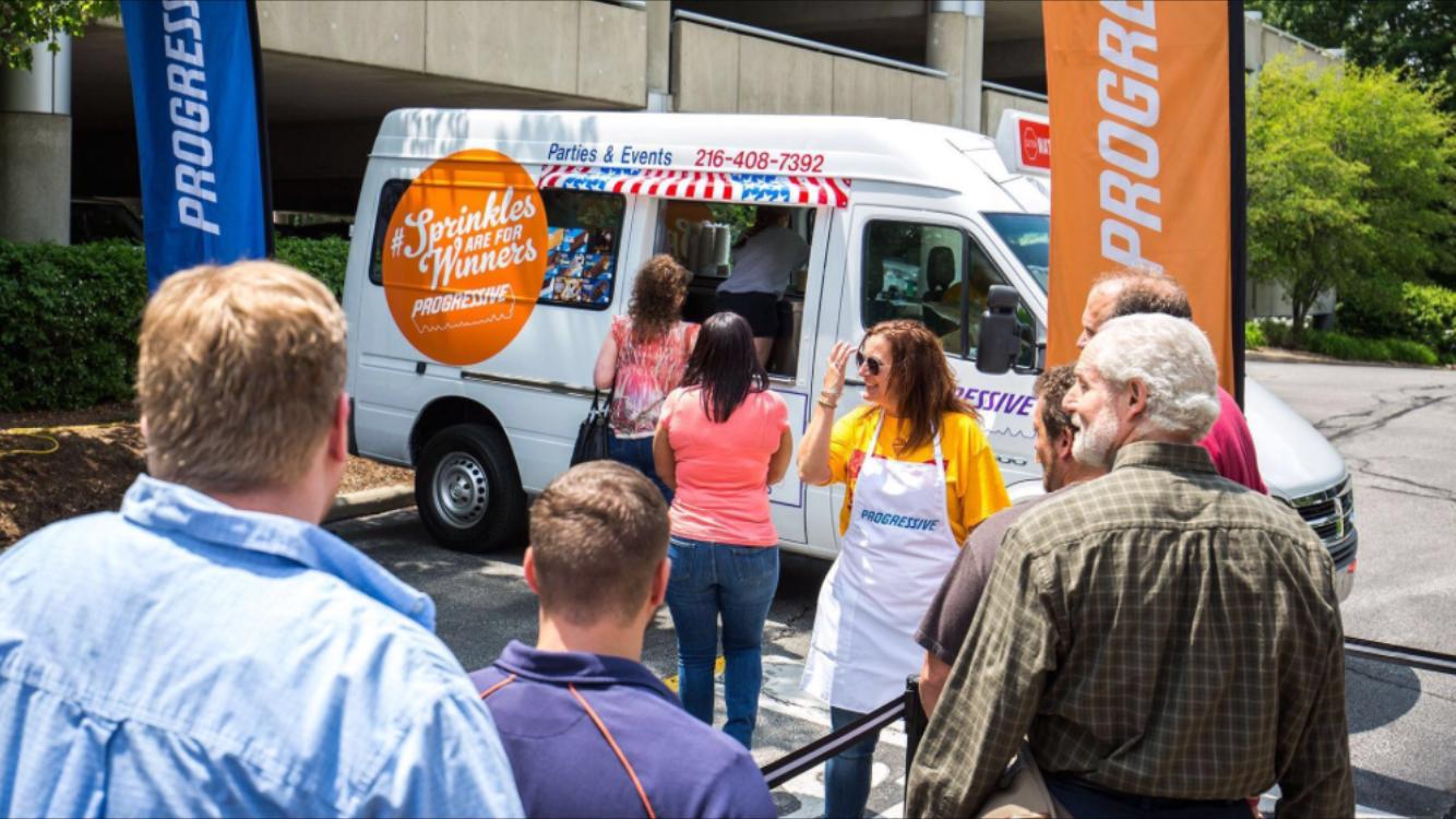 Progressive ice cream truck event