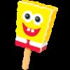 A Sponge Bob ice cream bar.
